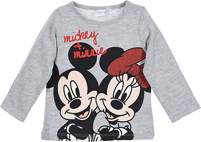 Minnie Mouse beb/é-ni/ñas Camiseta de Manga Larga