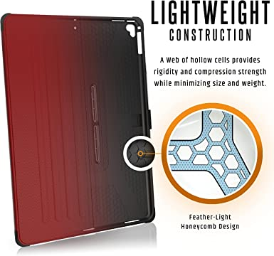 Urban Armor Gear Metropolis 12 9 High To Us Survivor Military Case Cover For Apple Ipad Pro Red Reinforced Corners I I Shock I Anti Static I Stand Wake Sleep Function Ipdp12g2 Electric