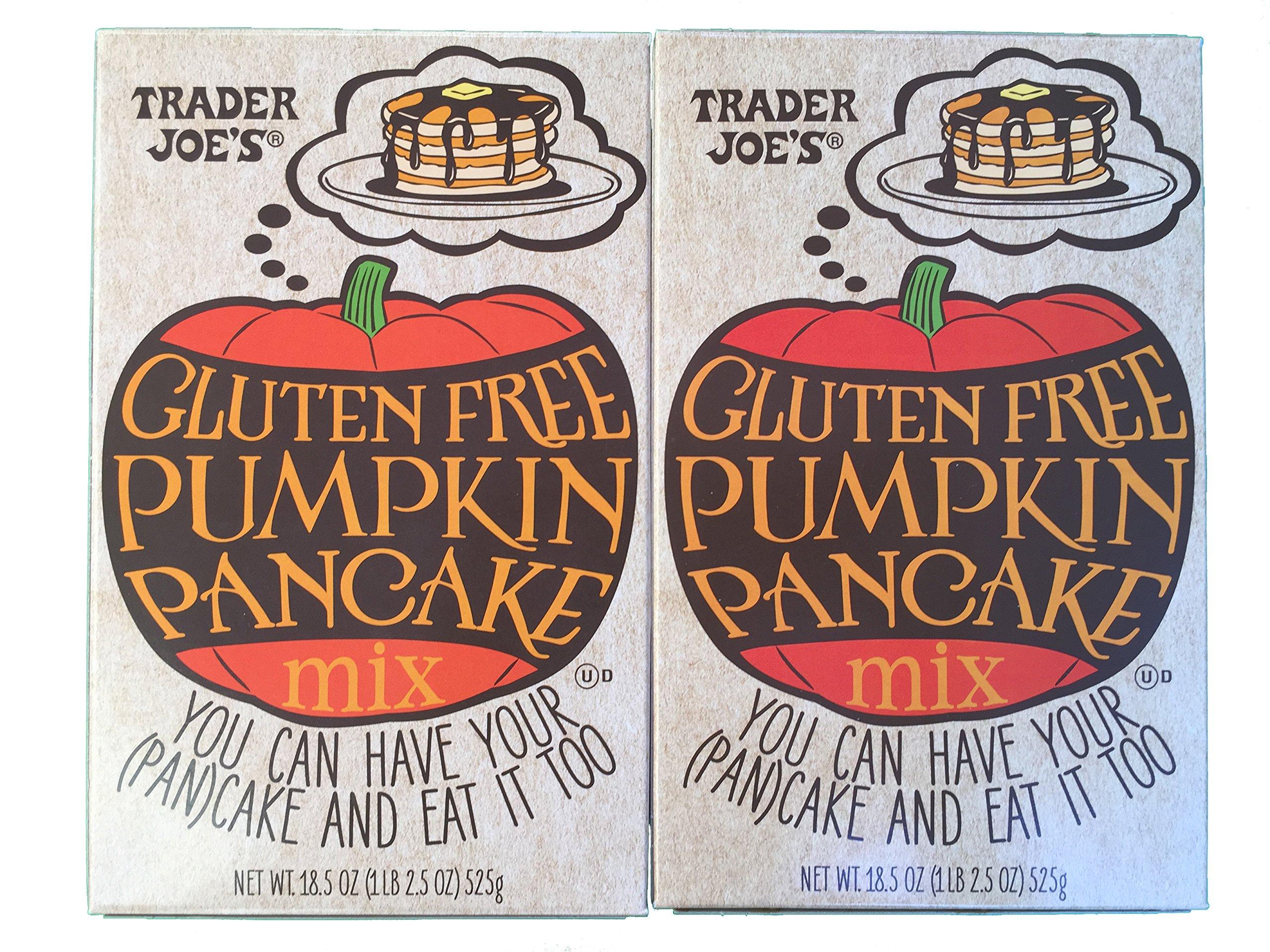 Trader Joes Gluten Free Pumpkin Pancake Mix - 18.5oz (Pack of 2) by Trader Joe's