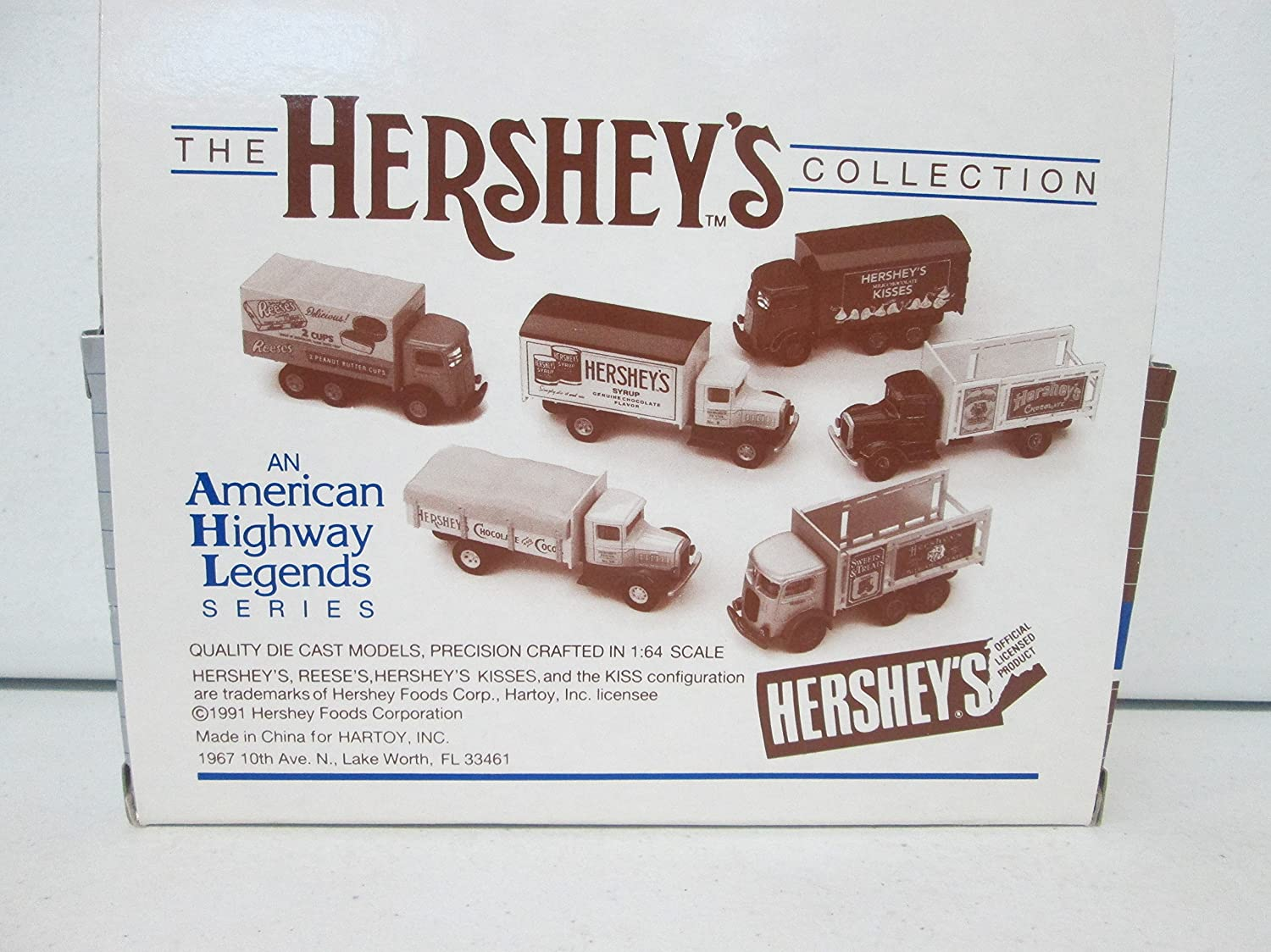 Amazon Com Hartoy Ahl H01040 Hershey S Almond Joy Box Van 1 64