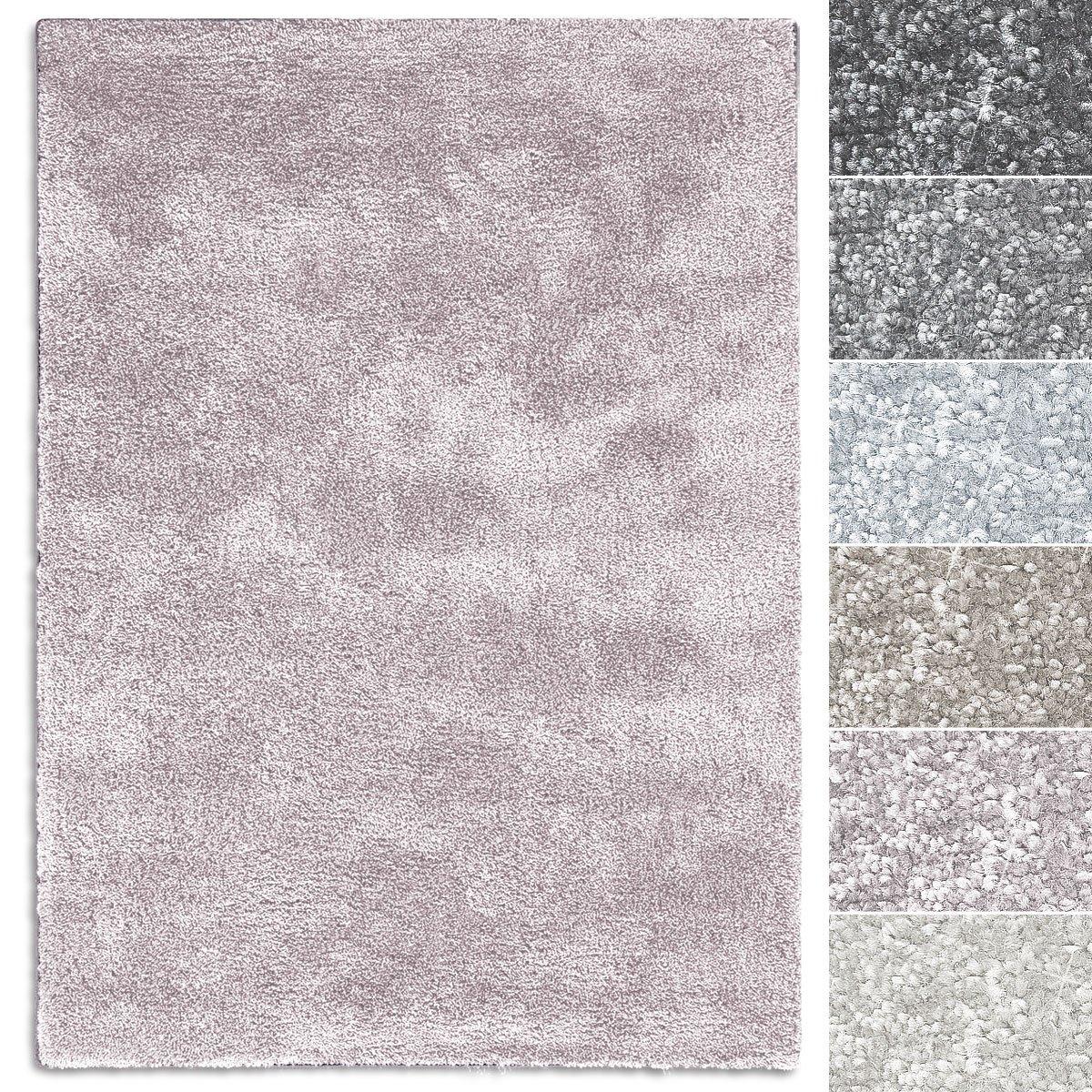 Casa pura Teppich Sundae   viele Größen   pflegeleicht kuschlig weich   Flurteppich, Wohnzimmerteppich, Küchenteppich, Schlafzimmerteppich (Rosé - 100x150 cm)