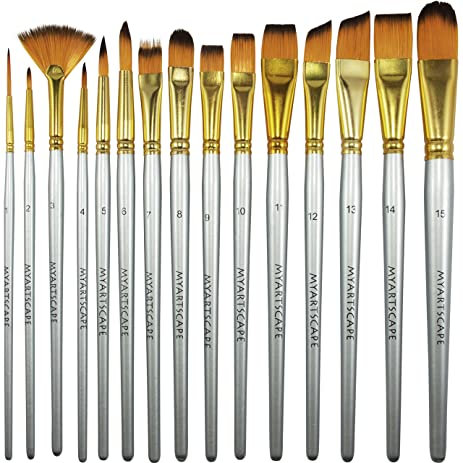 oil paint brushes. paint brush - set of 15 art brushes for watercolor, acrylic \u0026 oil painting 5