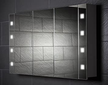 Spiegelschrank holz weiß  Galdem CUBE120 Spiegelschrank, holz, 120 x 70 x 15 cm, weiß ...
