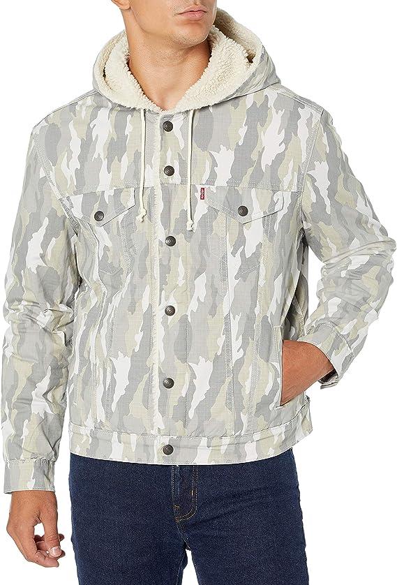 Levi's 李维斯 男式连帽羊羔绒保暖夹克 M码3折$29.89 海淘转运到手约¥286