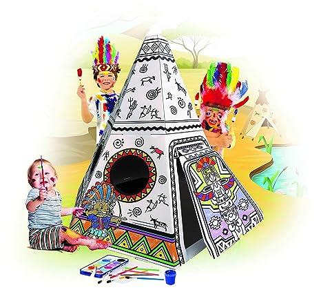 Amazon.com: Spiritoy My Teepee Tent Cardboard Playhouse - Large ...