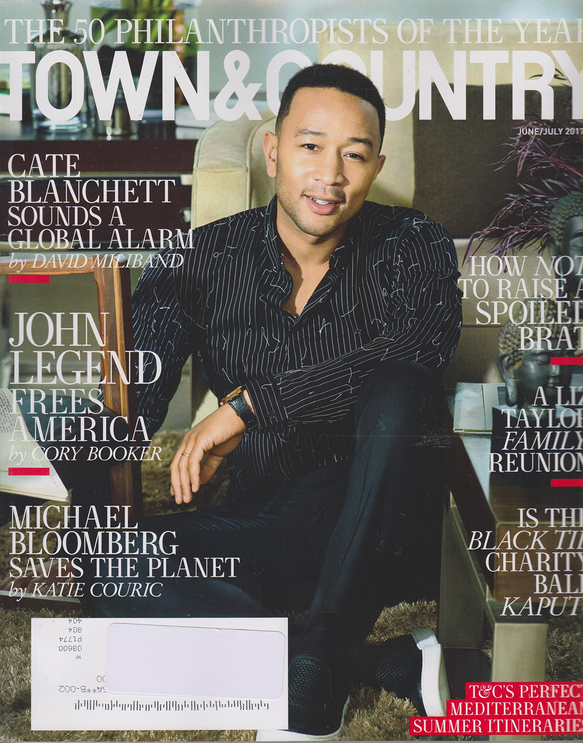Download Town & Country Magazine (June/July, 2017) John Legend Frees America - The 50 Philanthropists of The Year pdf