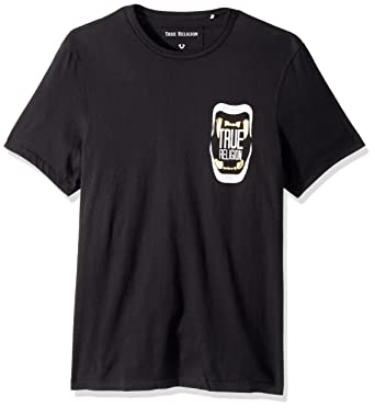 5601550459ff Amazon.com: True Religion Men's Short Sleeve Metallic Teeth Tee2: Clothing