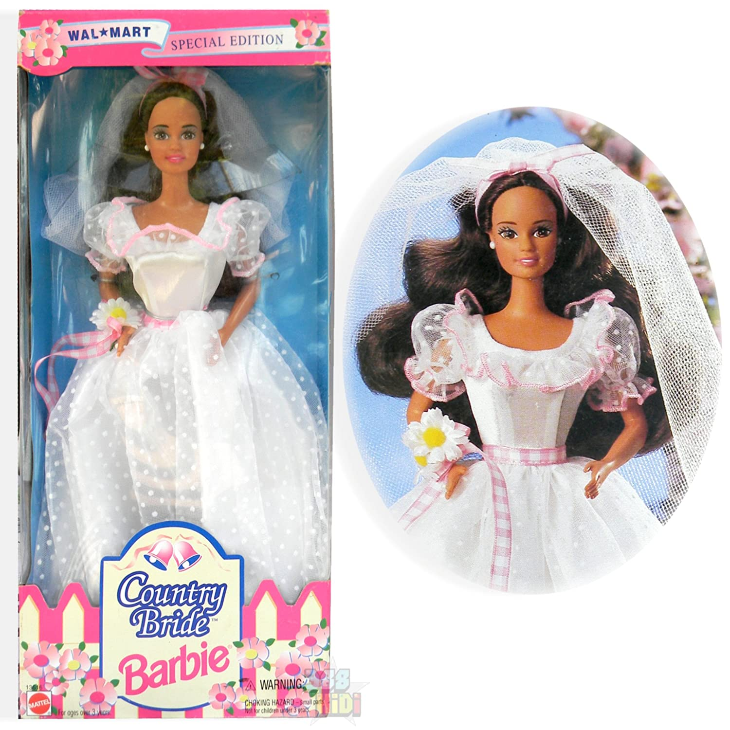 Amazon Barbie Country Bride Doll Brunette Wal Mart Special