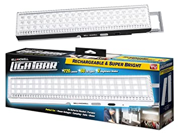 Light bar by bell howell 60 led 165 rechargeable black light bar by bell howell 60 led 165quot rechargeable mozeypictures Choice Image