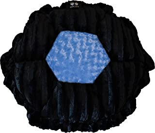 product image for BESSIE AND BARNIE Ultra Plush Black Puma/Blue Sky (Patch) Luxury Deluxe Dog/Pet Cuddle Pod Bed