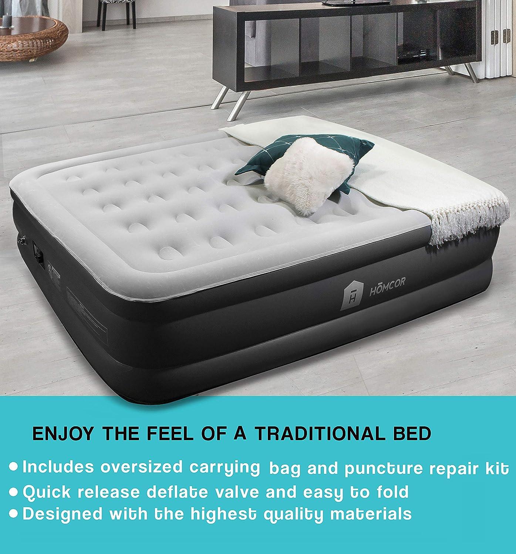 Amazon.com: HOMCOR Colchón hinchable de aire para invitados ...