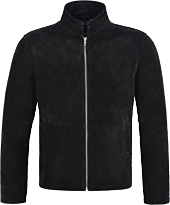 New Men/'s Real Leather Jacket Black Suede Biker Motorcycle Fashion Style 0 5917