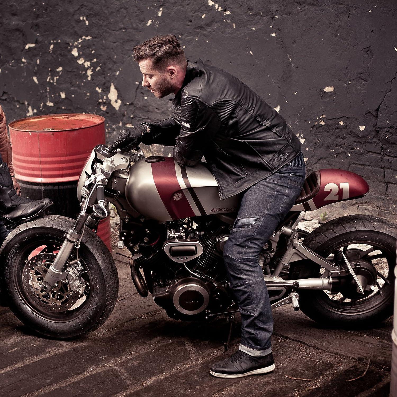 Blue SHIMA Gravity Cordura Classic Protektoren Herren Gusset Motorrad Jeans Gr/ö/ße 34