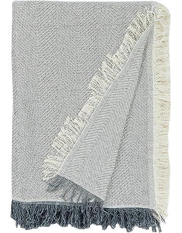Martina Home Espiga - Foulard Multiusos, Crudo Gris, 230 x 260 cm