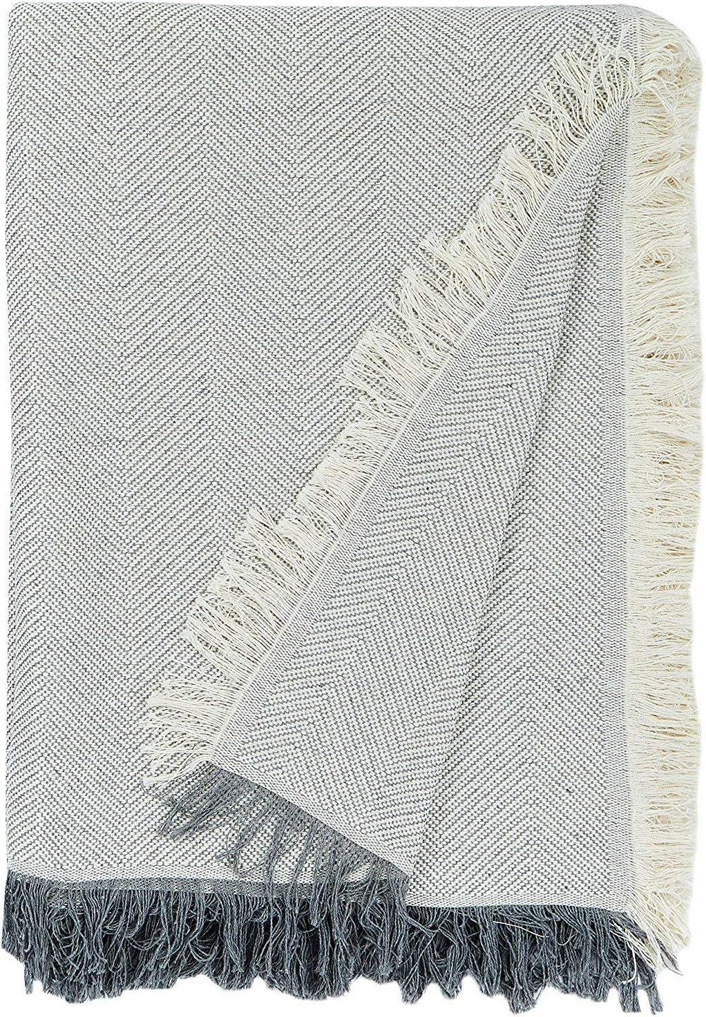 Martina Home Espiga - Foulard Multiusos, Crudo Gris, 230 x 260 cm, tela