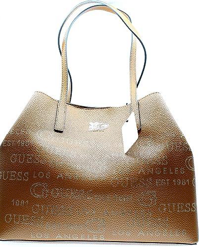 Guess - Grand sac cabas tendance femme en simili cuir logo perforé ...