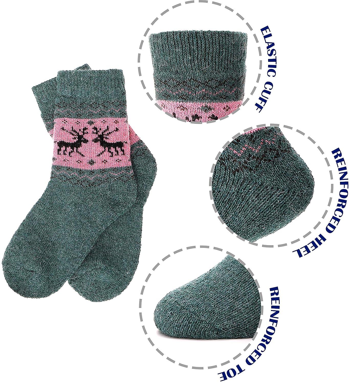 Children Wool Socks For Boy Girl Kids Toddler Thick Thermal Warm Cotton Winter Crew Socks