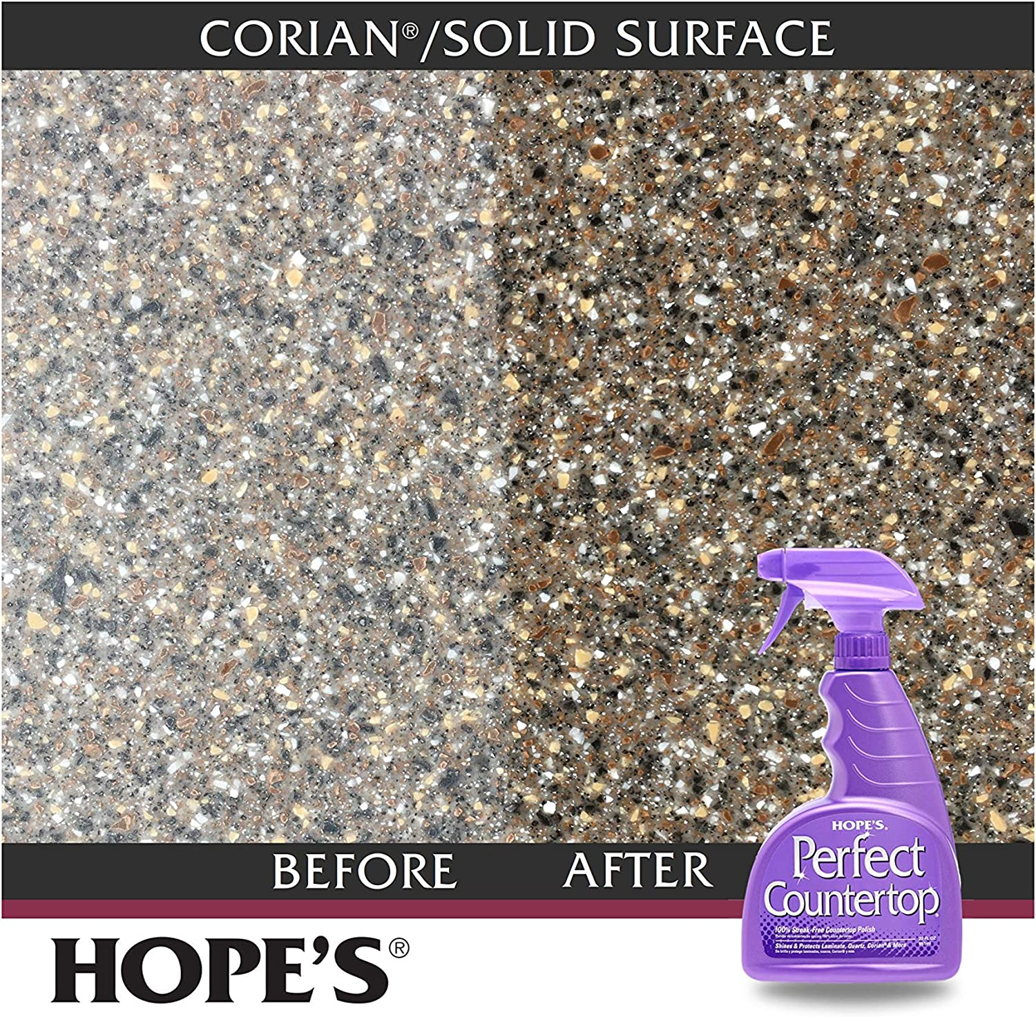 Hope S Perfect Countertop Cleaner And Polish 22 Ounce Streak