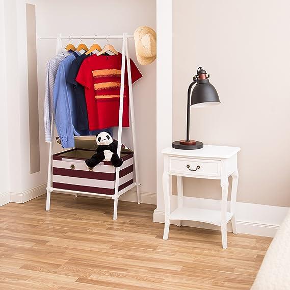 Kleiderständer mit Ablage Garderobenständer Aufbewahrungsbox HBT 150x108x50