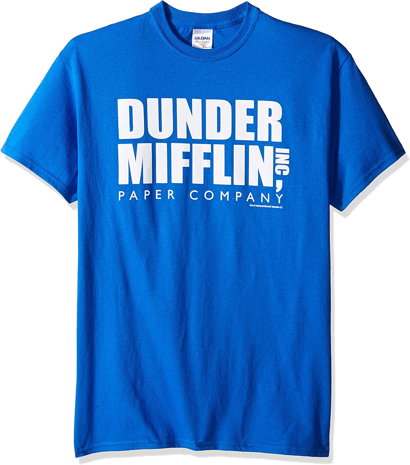 T-Line Men's The Office Tv Series Dunder Mifflin Logo Graphic T-Shirt