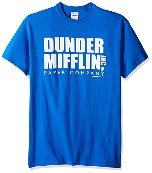 be1eebeb971e Amazon.com: T-Line Men's The The Office Tv Series Dunder Mifflin Logo  Graphic T-Shirt: Clothing