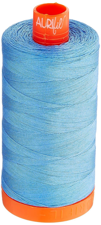 Aurifil A1050-2725 Solid 50wt 1422yds Light Wedgewood Mako Cotton Thread Aurifil USA