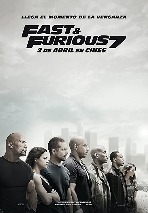 Amazon Com Fast And Furious 7 Movie Poster Spanish 24 X 36 Thick Paul Walker Vin Diesel The Rock Michelle Rodriguez Posters Prints
