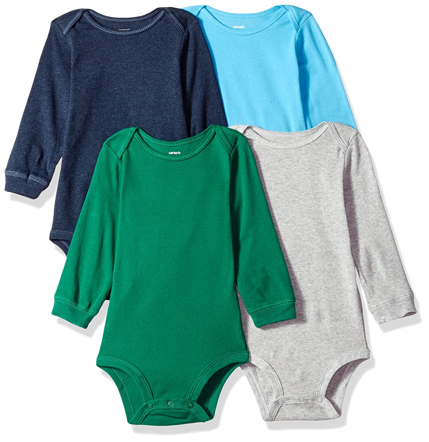 Carter's Baby Boys 4-pack Long-sleeve Bodysuits (NB-24M) (Newborn, Striped Multi) Carter' s 831424baby-boys