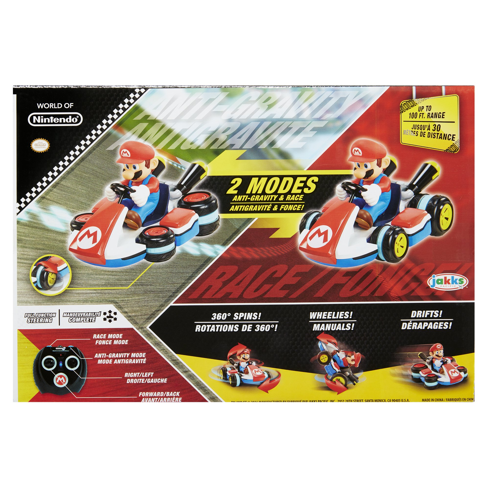 NINTENDO Super Mario Kart 8 Mario Anti-Gravity Mini RC Racer 2.4Ghz by Nintendo (Image #9)
