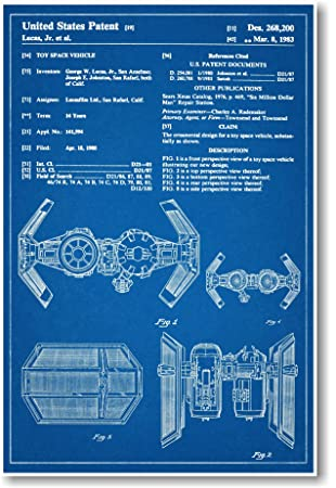 Amazon star wars tie bomber patent new famous invention amazon star wars tie bomber patent new famous invention blueprint poster toys games malvernweather Gallery