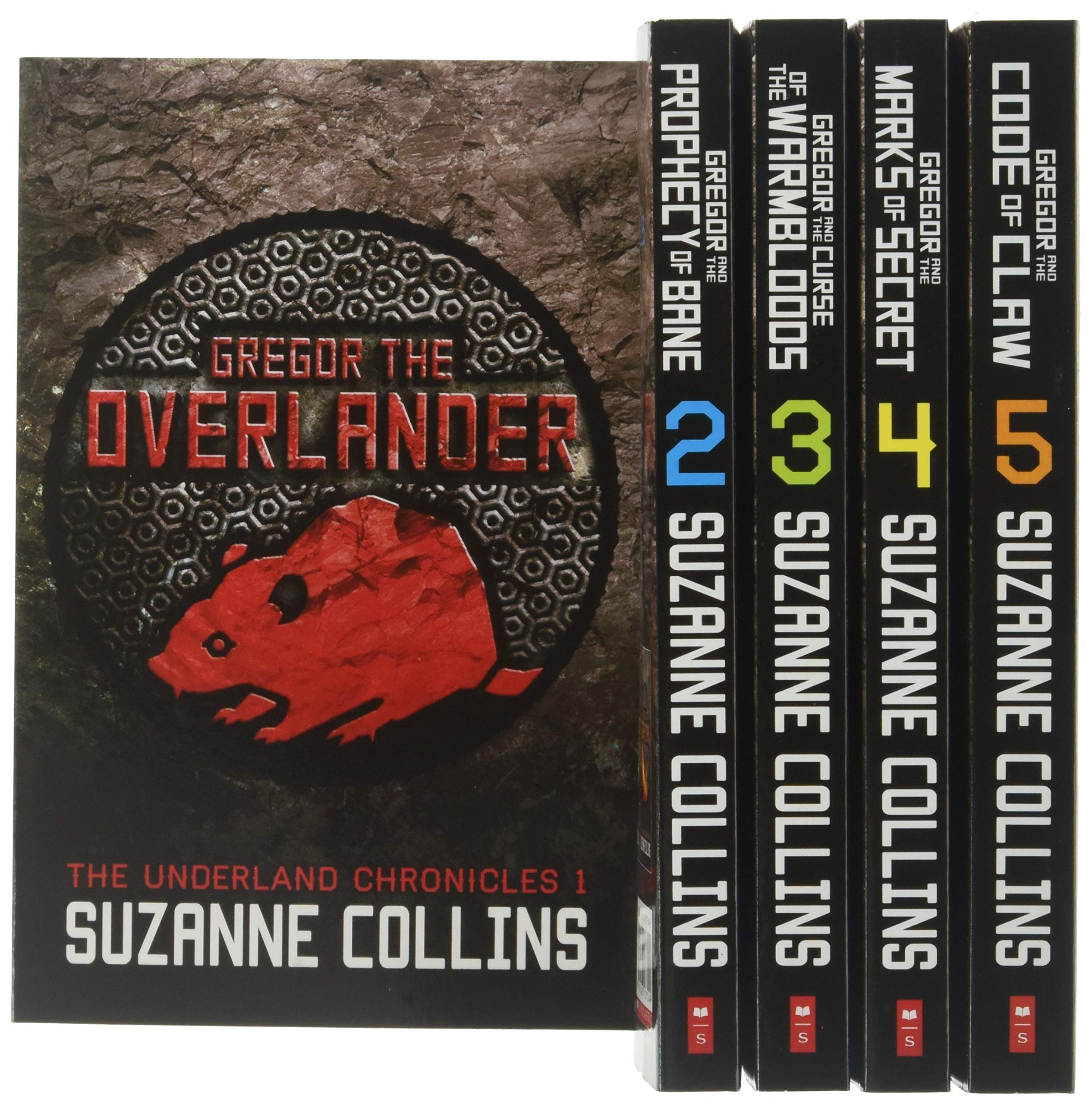 Suzanne Collins The Underland Chronicles 5 Books Set (1-5) Gregor The Overlander by SCHOLASTIC