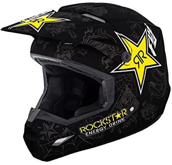 Fly Racing - Casco Elite Rockstar Schwarz M