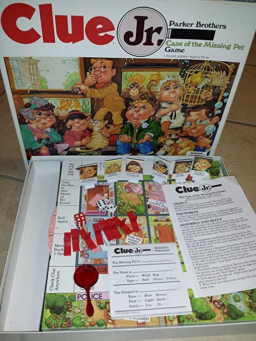 Case of the Missing Pet Parker Brothers Clue Jr