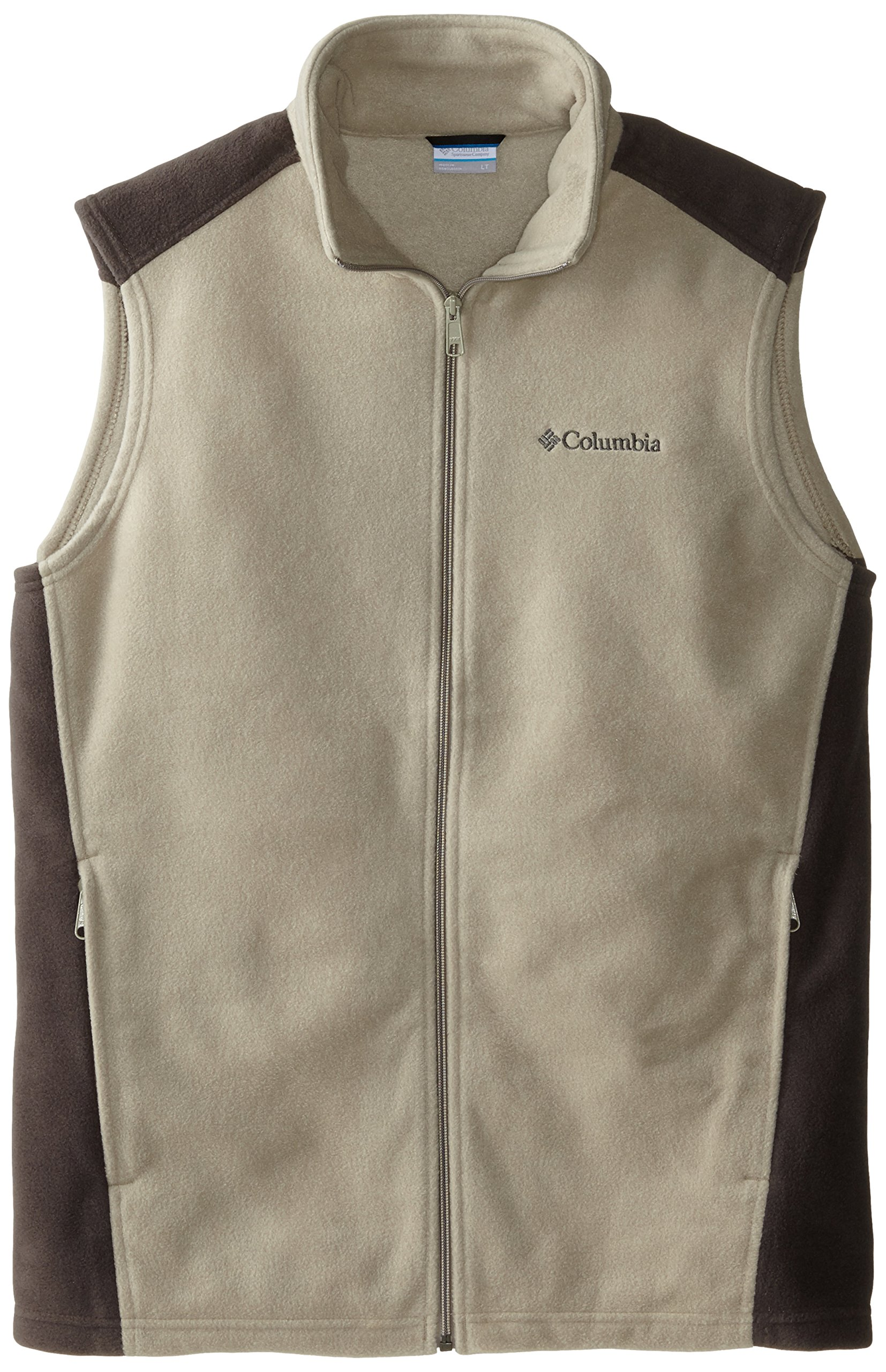 Columbia Men's Big Steens Mountain and Tall Vest, Tusk/Buffalo, 6X by Columbia