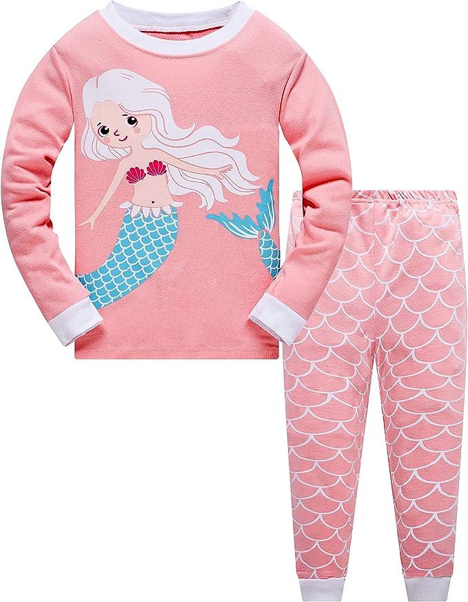 Qzrnly Niña Pijamas Manga Larga De 2 Piezas para Ninas 100% De Algodon: Amazon.es: Ropa y accesorios