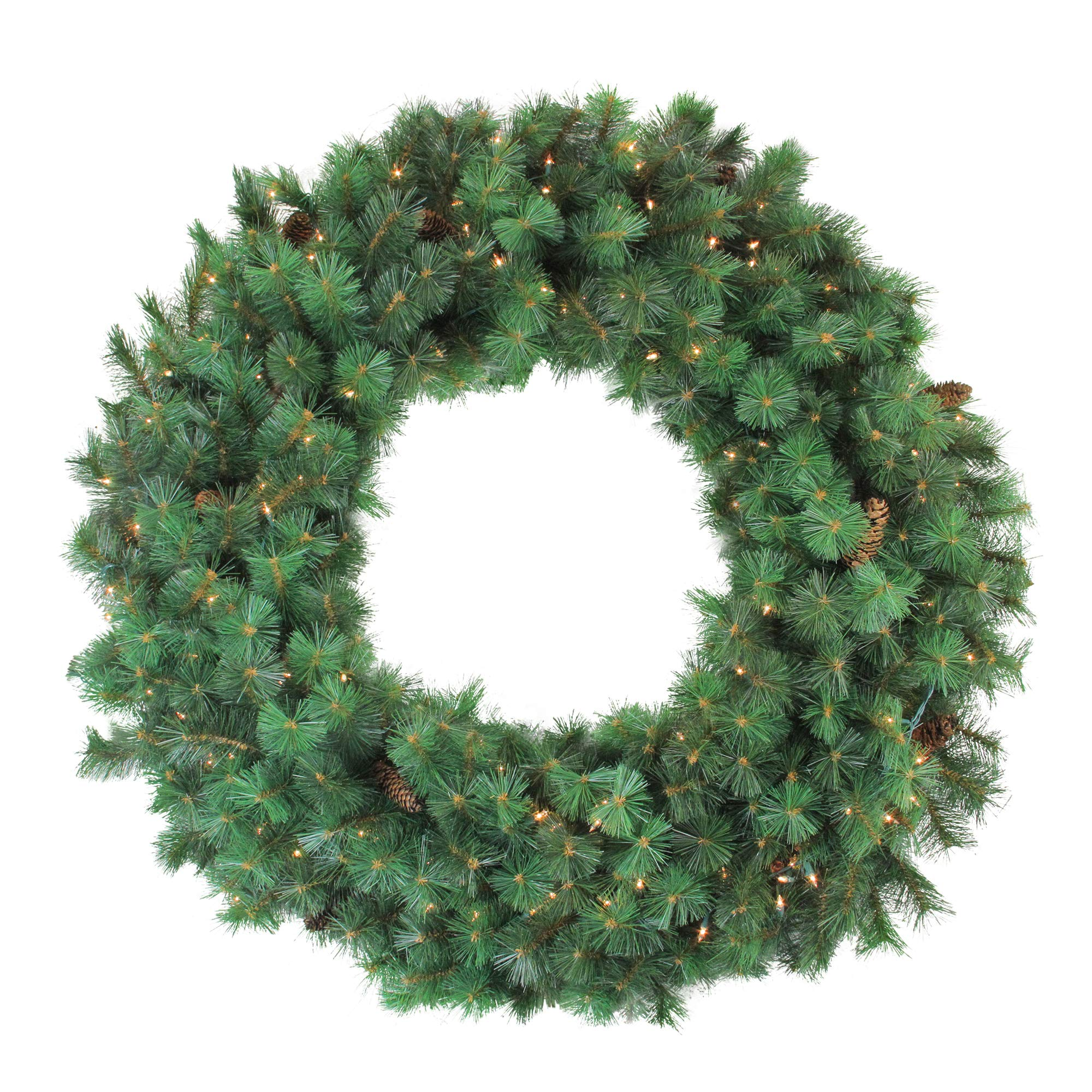 Northlight Pre-Lit Royal Oregon Pine Artificial Christmas Wreath, 48-Inch Clear Lights