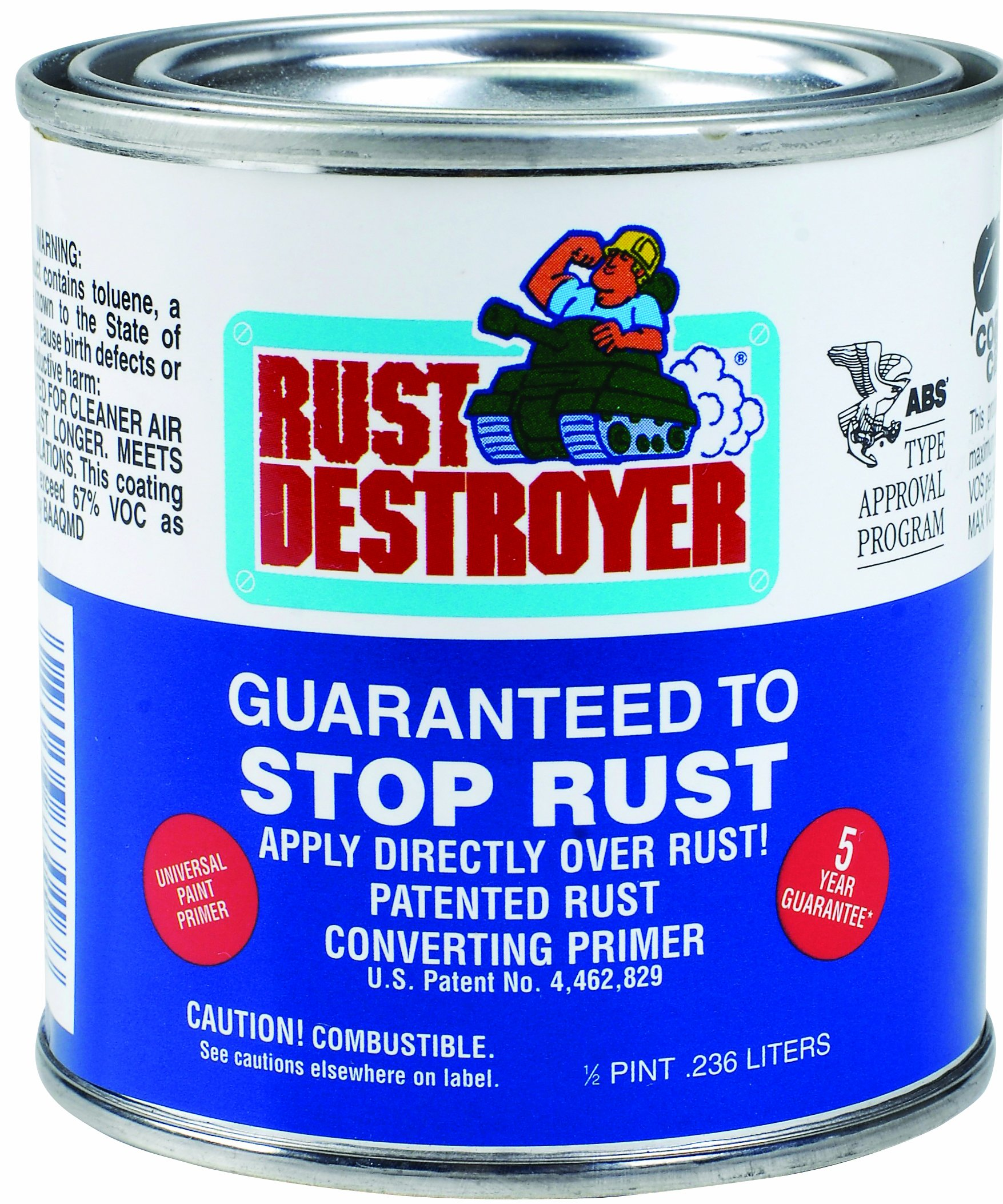 Advanced Protective Products Rust Destroyer Corrosion Prevention Primer, 1/2-Pint