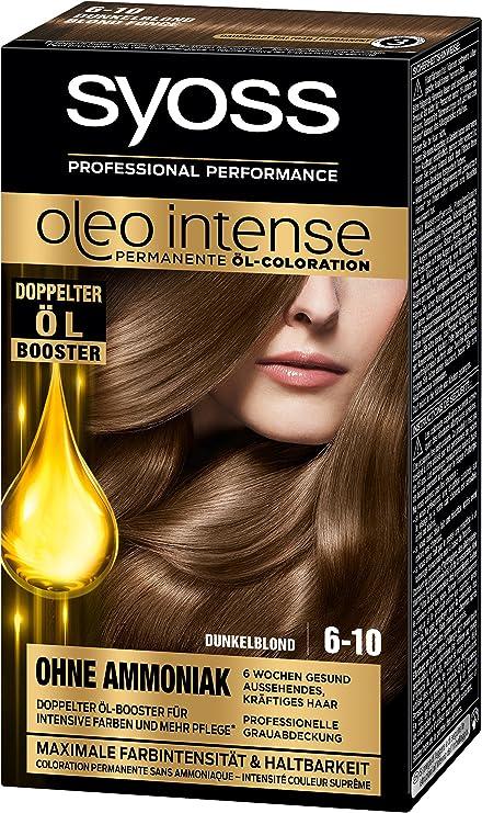 Syoss Oleo Intense Tinte para el cabello, rubio oscuro, 3 unidades (3 x 115 ml)