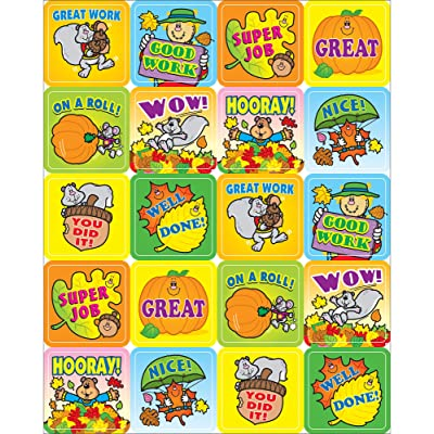 Carson Dellosa Education Fall Fun Motivational Stickers, Classroom Décor, 120 Pack, 0613: Carson-Dellosa Publishing: Office Products