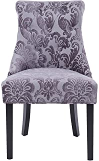 Merveilleux HD Couture Madison Rollback Grey Fan Damask Chair (1 Pack)
