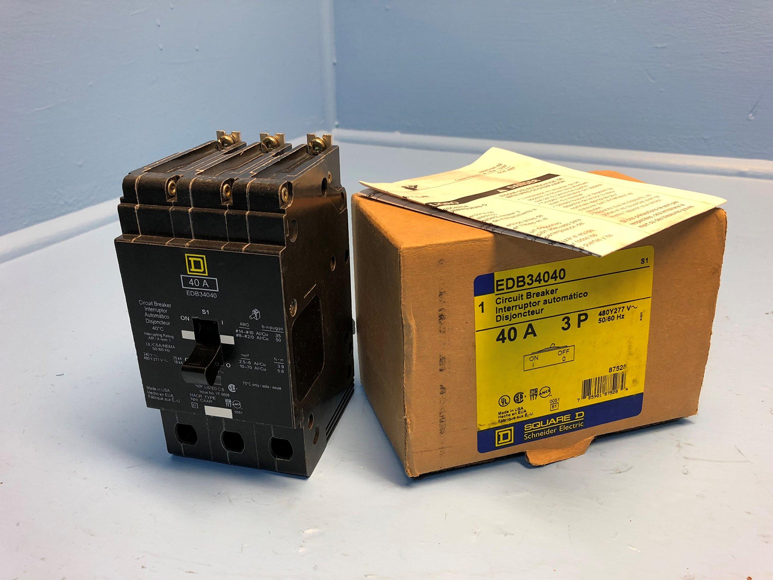 3P Standard Bolt On Circuit Breaker 40A 277/480VAC