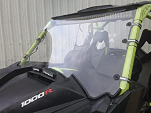 """2013-2018 Can AM Maverick Max 1000r 3/16"""" Polycarbonate Full Windshield"""