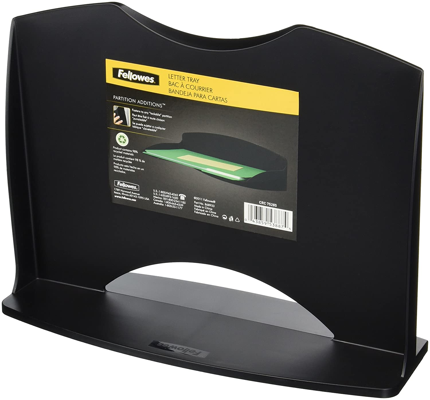 Fellowes Addition 7528501 Partition Addition Fellowes Letter Tray f68071