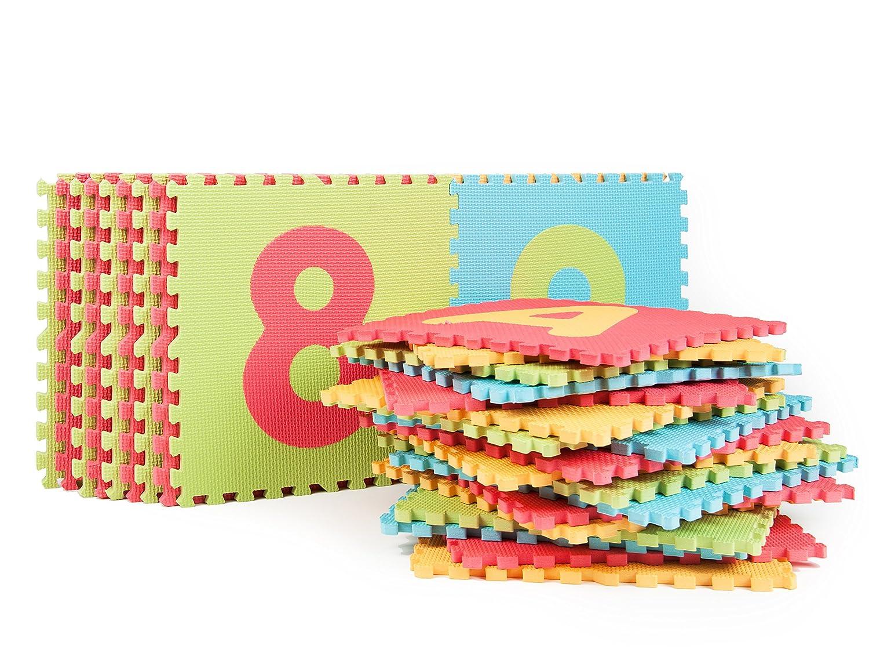Green Multicolored Tadpoles Super-Soft Memory Foam ABC Plush Playmat