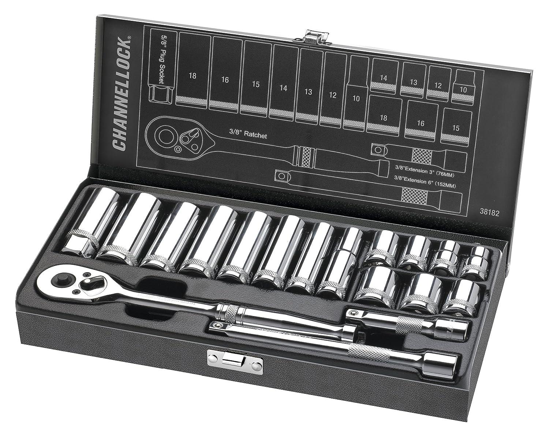 Channellock 38181 3/8' Drive Standard Socket Set, 18 Piece Inc.