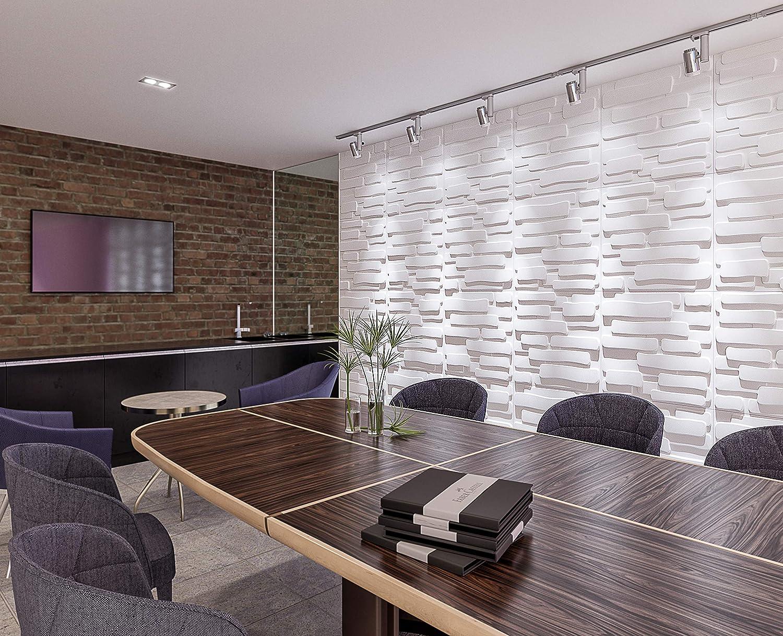 Amazon.com: 3D Decorative Wall Panels/Paintable Plant Fiber Design/Textured  Eco Friendly Modern Wall Decor For TV Walls/Bedroom/Living Room Sofa: Home  ...