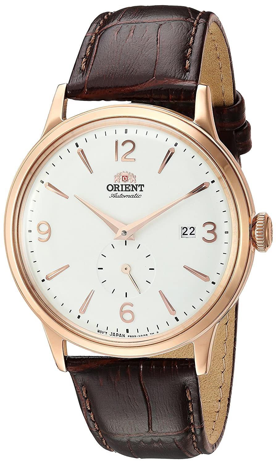 Orient Men 's ' Bambino Small Seconds ' Japanese AutomaticステンレススチールandレザーDress Watch, Color : Brown (Model : ra-ap0001s10 a) B07B45XJG7