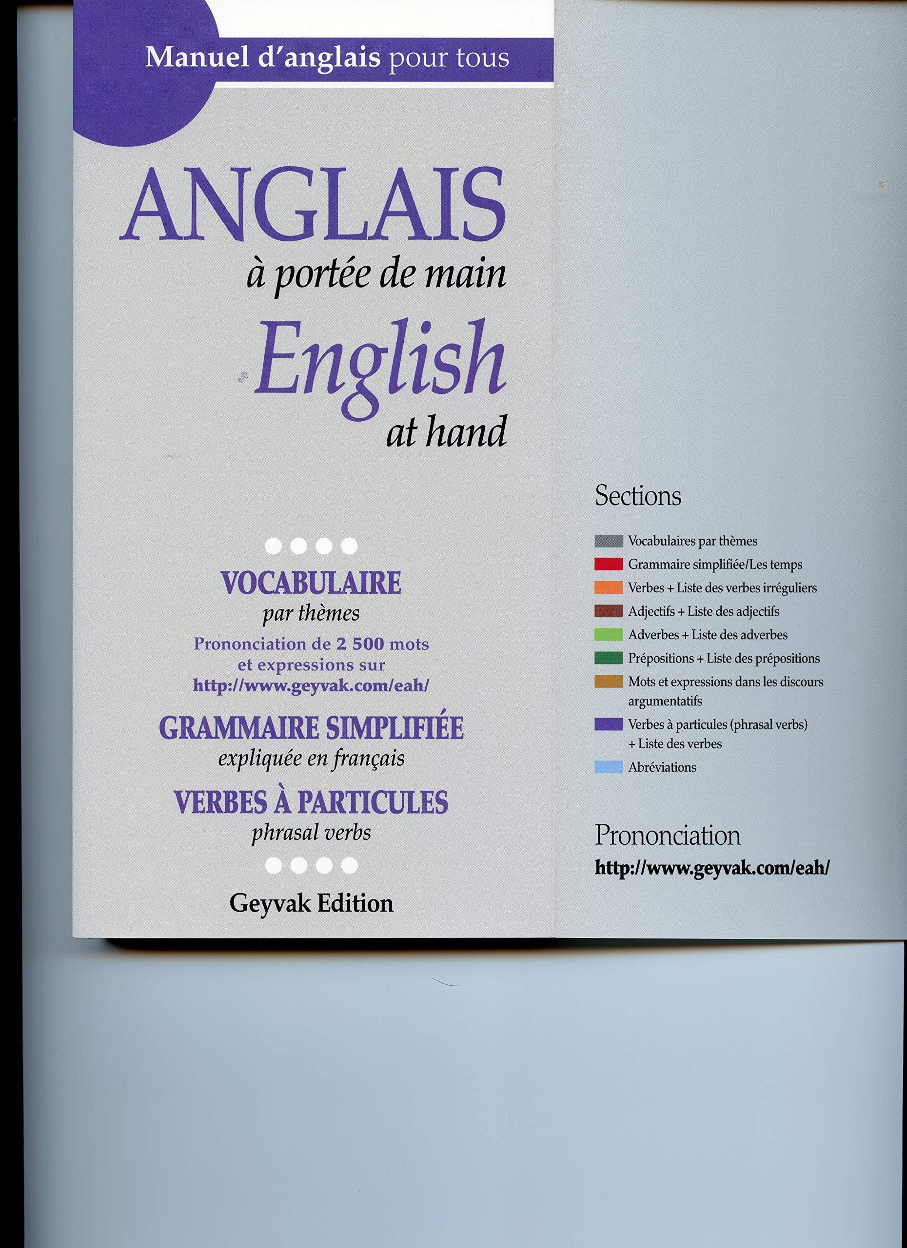 Amazon Fr Anglais A Portee De Main Manuel D Anglais Pour Tous Djabbari Mina Livres