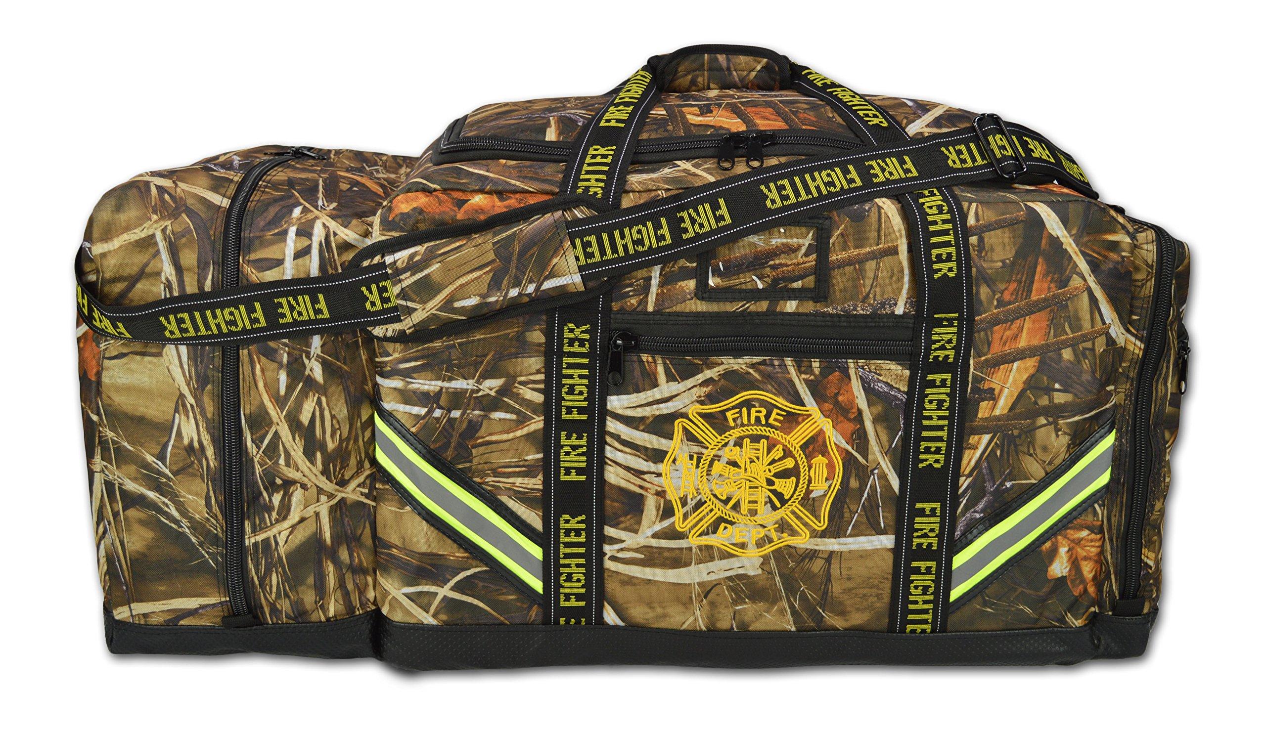 Lightning X Premium Camouflage 3XL Firefighter Step-In Gear Bag w/Helmet Compartment - Deep Woods Camo