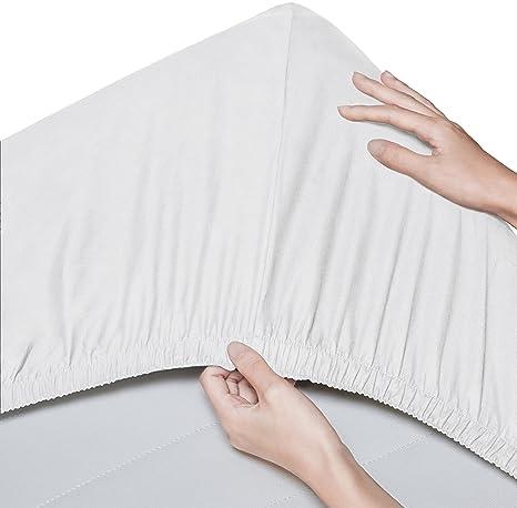 Pinzon - Sábana bajera de algodón orgánico de 300 hilos (pack de 2) -